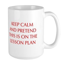 KEEP-CALM-LESSON-PLAN-OPT-RED Mug
