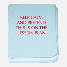 KEEP-CALM-LESSON-PLAN-OPT-RED baby blanket