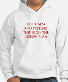KEEP-CALM-LESSON-PLAN-OPT-RED Hoodie