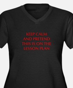 KEEP-CALM-LESSON-PLAN-OPT-RED Plus Size T-Shirt