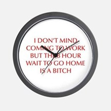 I-DONT-MIND-COMING-OPT-RED Wall Clock