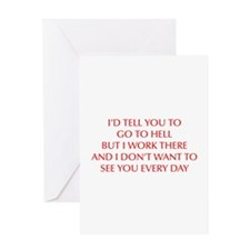 GO-TO-HELL-OPT-RED Greeting Card