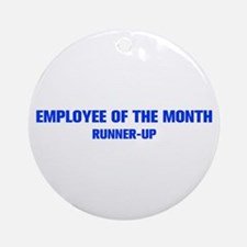 EMPLOYEE-OF-THE-MONTH-AKZ-BLUE Ornament (Round)
