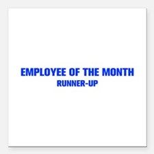 EMPLOYEE-OF-THE-MONTH-AKZ-BLUE Square Car Magnet 3