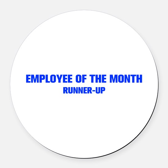 EMPLOYEE-OF-THE-MONTH-AKZ-BLUE Round Car Magnet