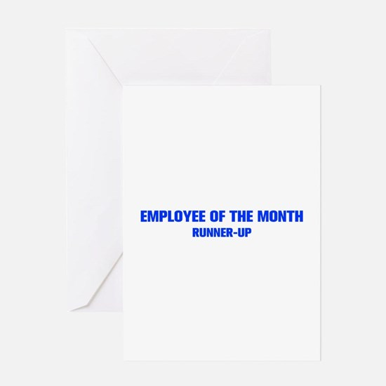 EMPLOYEE-OF-THE-MONTH-AKZ-BLUE Greeting Card
