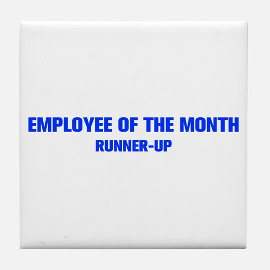 EMPLOYEE-OF-THE-MONTH-AKZ-BLUE Tile Coaster