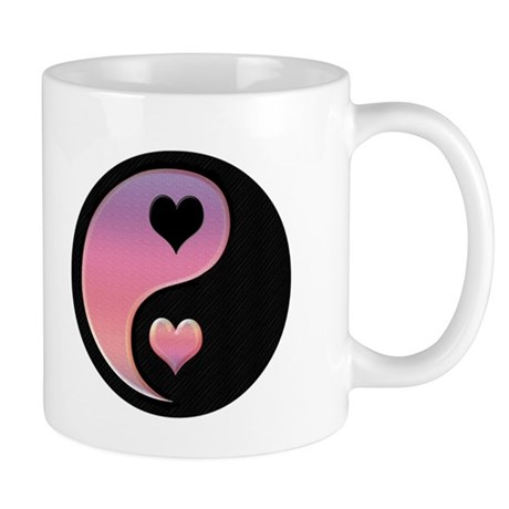 Ying & Yang w/ Hearts 11oz. Mug