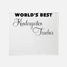 worlds best kindergarten teacher Throw Blanket