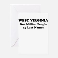 West Virginia one million people 15 last names Gre