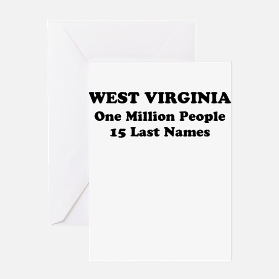 West Virginia one million people 15 last names Gre