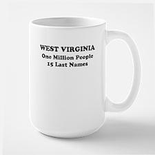 West Virginia one million people 15 last names Mug