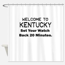 welcome to kentucky Shower Curtain