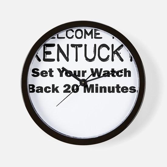 welcome to kentucky Wall Clock