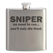 Sniper no need to run youll only die tired Flask