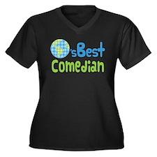 Earths Best Comedian Women's Plus Size V-Neck Dark