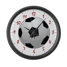 Soccer Ball Large Wall Clock