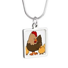 Chicken with Baby Chicks Necklaces