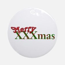Merry XXXmas Ornament (Round)