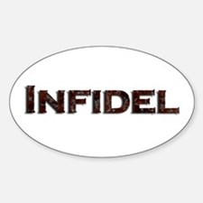 Infidel Oval Decal