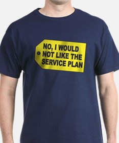 No Service Plan Navy T-Shirt