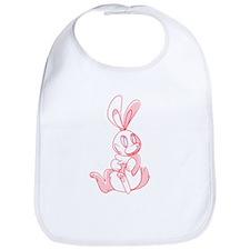 Cute Pink Bunny Bib