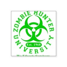 A Zombie Hunter University Rectangle Sticker