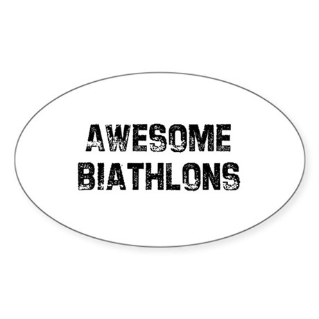 Awesome Biathlons Oval Sticker