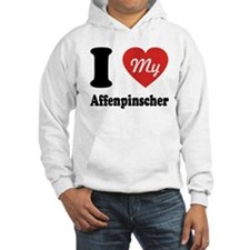 I Heart My Affenpinscher Jumper Hoody
