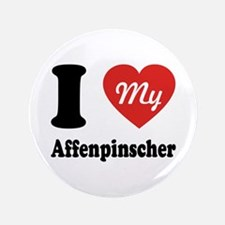 "I Heart My Affenpinscher 3.5"" Button"