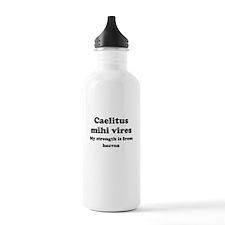 Caelitus mihi vires Sports Water Bottle