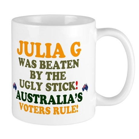 AUSTRALIA - JULIA G WAS BEATEN BY THE UGLY STICK!