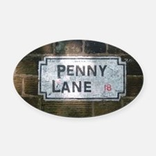 Penny Lane Street Sign Oval Car Magnet