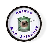 Retired physics teacher Wall Clocks
