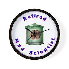 Retired Mad Scientist Wall Clock