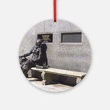 Eleanor Rigby Statue Round Ornament
