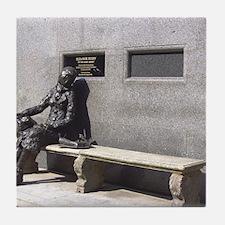 Eleanor Rigby Statue Tile Coaster