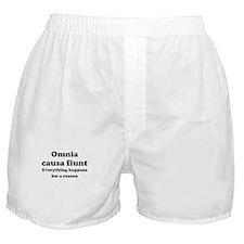 Omnia causa fiunt Boxer Shorts