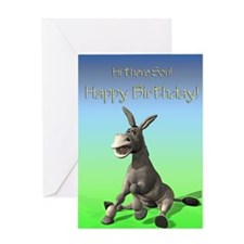 Son, cute ass birthday card Greeting Card