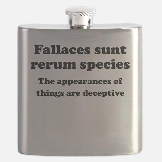 Fallaces sunt rerum species Flask