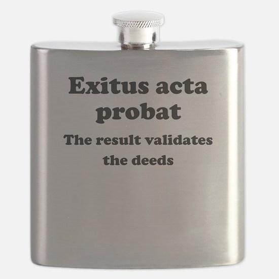 Exitus acta probat Flask