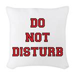 Do Not Disturb Woven Throw Pillow
