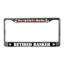 Banker License Plate Frame