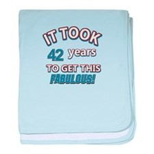 Age specific birthday designs for all baby blanket