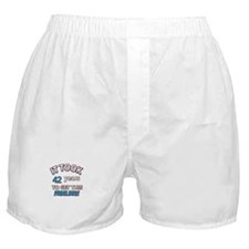 Age specific birthday designs for all Boxer Shorts