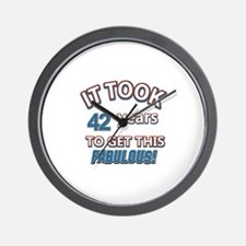 Age specific birthday designs for all Wall Clock