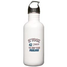 Age specific birthday designs for all Water Bottle