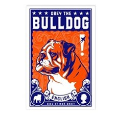 Obey the English Bulldog! Postcards (Pack of 8)