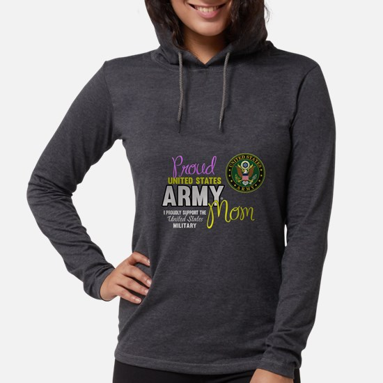 Proud Army Mom Seal Womens Hooded Shirt
