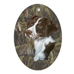 Brittany Spaniel Oval Ornament